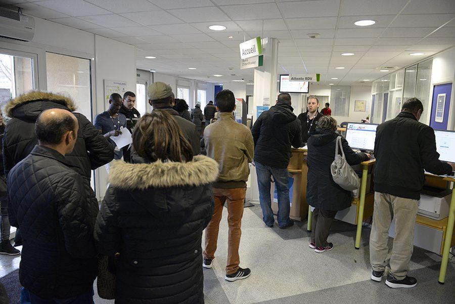 Pôle emploi de Vénissieux. 7 janvier 2016