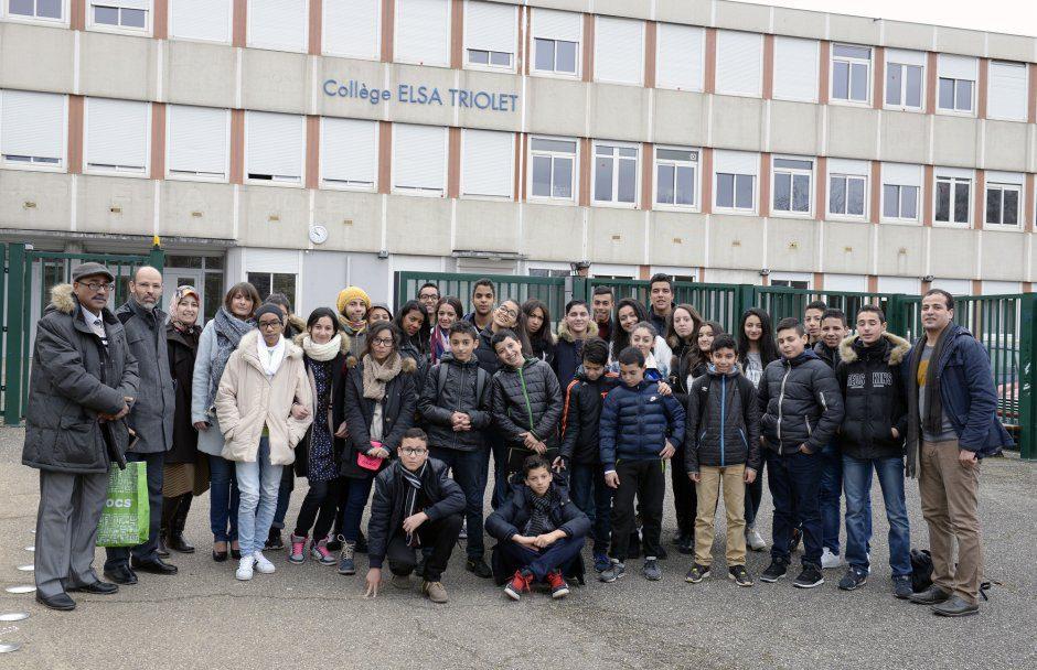 College Elsa triolet, dŽlŽgation marocaine en visite. fev.2016