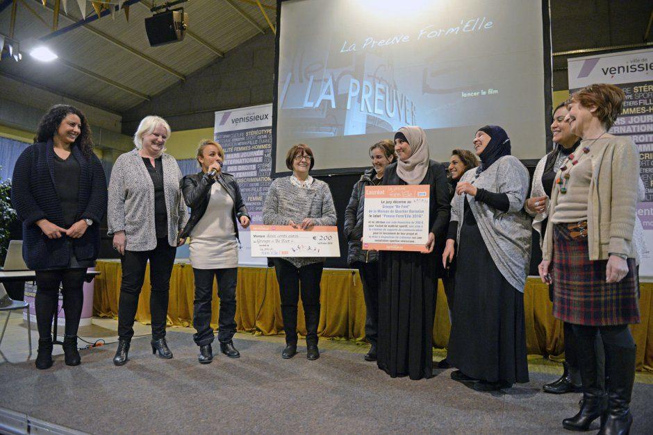 Ouverture du Festival Essenti'elles par M.Picard à la salle Irène-Joliot-Curie, e 8 mars 2016