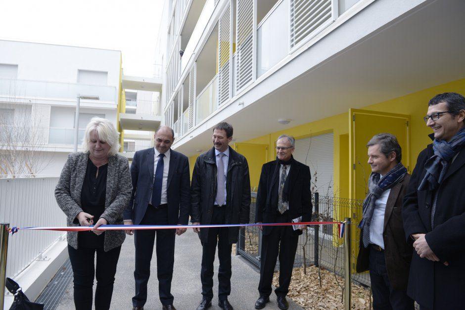 """inauguration des """"jardins d'eze"""" (ilot R.Rolland le 31 mars 2016"""