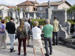 JournŽe du patrimoine, Viniciacum, visite du cimetire, tombes des rosieristes