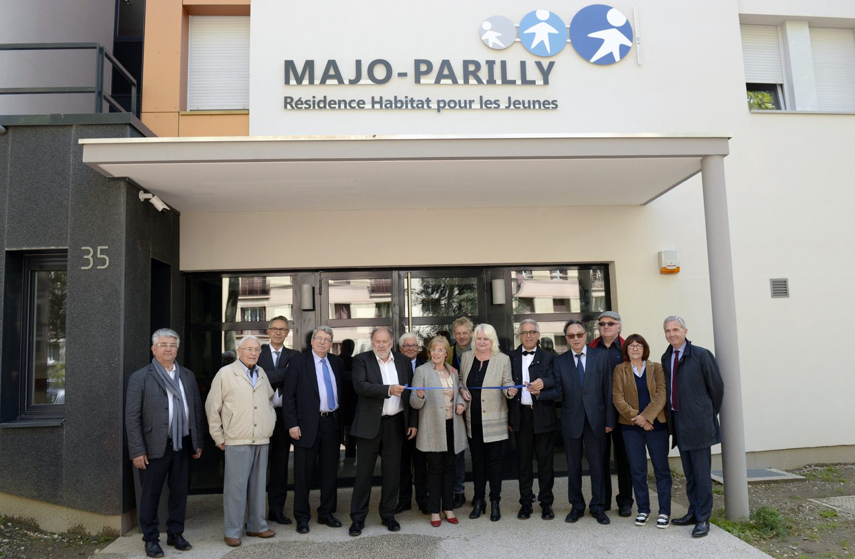 inauguration du triangle du Thioley. (MAJO, EmmaŸs logement, et Alliade Habitat (logements sociaux)) ˆ Parilly